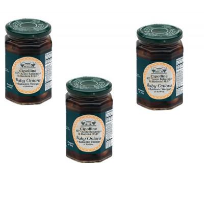 Cipolline au vinaigre Balsamique IGP par 3 bocaux