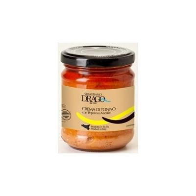 Crème de thon avec poivrons grillés