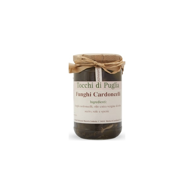 """Champignons """"Cardoncelli"""" à l'Huile d'Olive Vierge Extra"""