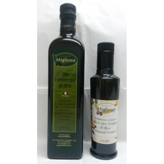 deux huiles d'olive extra vierge