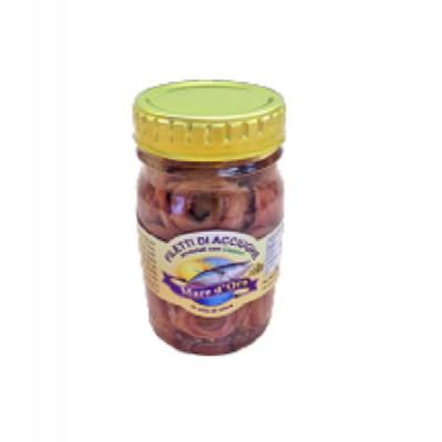 Filets d'Anchois à l'Huile d'olive avec Câpres