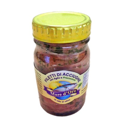 Filets d'Anchois à l'Huile d'olive avec Ail et Persil
